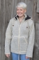 Mobile Preview: Ribbed light grey jacket with removable hood and fleece lining
