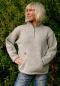 Mobile Preview: Grey Half-Zip Wool Pullover