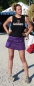 Preview: Corduroy Skirt with Large Side Pockets and Snap-Fasteners-Purple