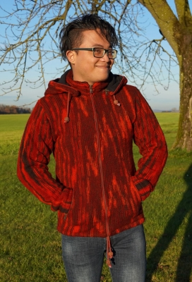 Luckys-Pullover red woolen Jacket