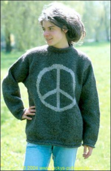 Pullover with Peace Symbol