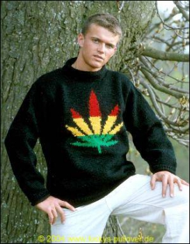 Pullover with Hemp-Leaf