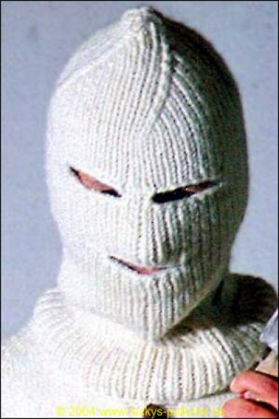 Balaclava with eye and mouth openings