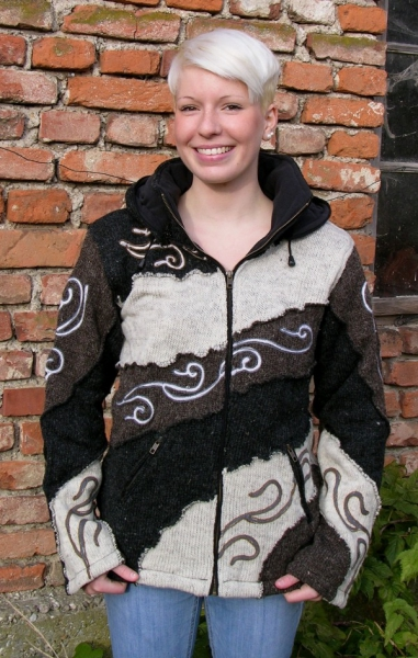 Hooded Tribal Jacket with fleece lining