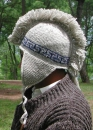 Mohican hat with earflaps and fleece lining
